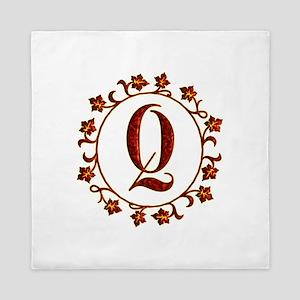 Letter Q Monogram Queen Duvet
