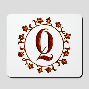 Letter Q Monogram Mousepad