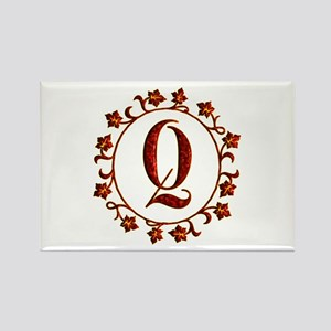 Letter Q Monogram Rectangle Magnet