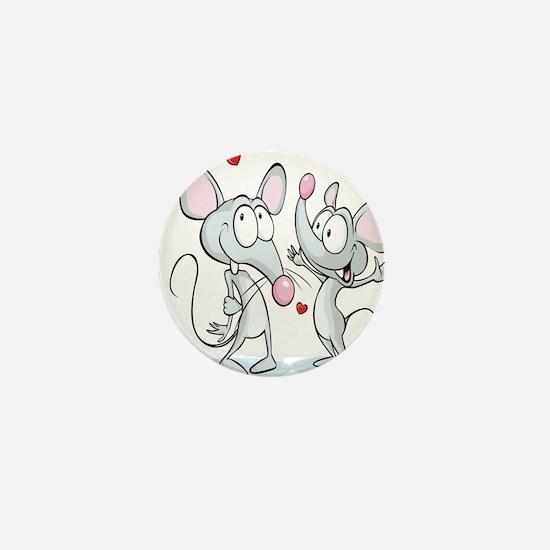 Mouse Love Mini Button