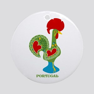 Traditional Portuguese Rooster Ornament (Round)