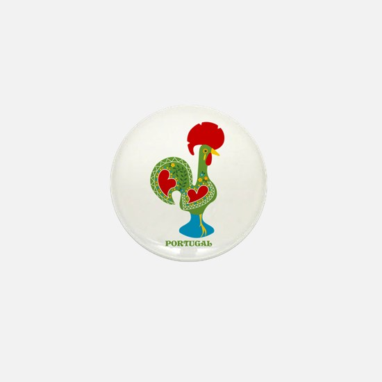 Traditional Portuguese Rooster Mini Button