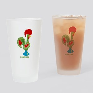 Traditional Portuguese Rooster Drinking Glass
