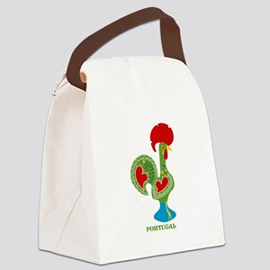 Traditional Portuguese Rooster Canvas Lunch Bag