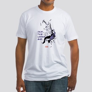 Hawkeye This Looks Bad Fitted T-Shirt