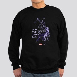 Hawkeye This Looks Bad Sweatshirt (dark)