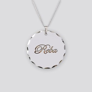Gold Reba Necklace Circle Charm