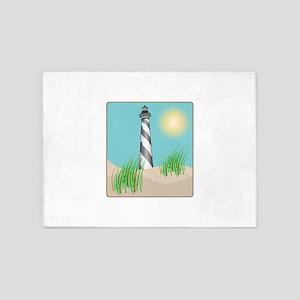 Lighthouse Scene 5'x7'Area Rug