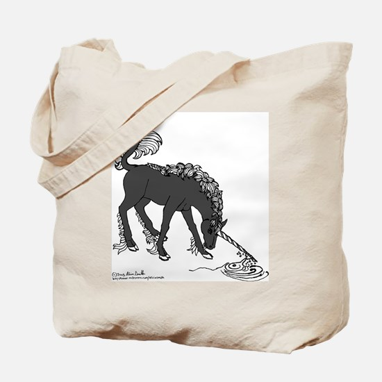 Black Unicorn Purifying Spring Tote Bag