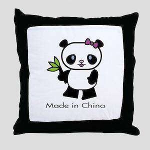 Panda Made in China Throw Pillow