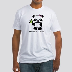 Panda Made in China Fitted T-Shirt