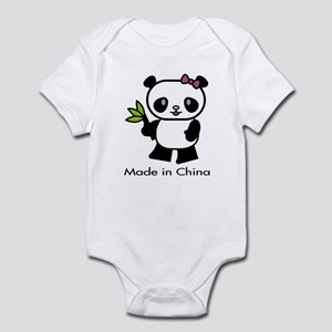 Panda Made in China Infant Bodysuit