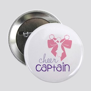 """Cheer Captain 2.25"""" Button"""