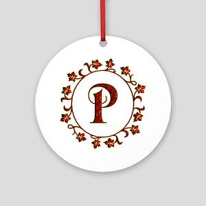 Letter P Monogram Ornament (Round)