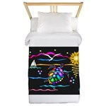 SeaTurtle (night) Twin Duvet