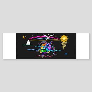 SeaTurtle (night) Sticker (Bumper)