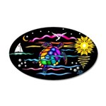 SeaTurtle (night) 20x12 Oval Wall Decal