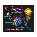 SeaTurtle (night) Small Poster