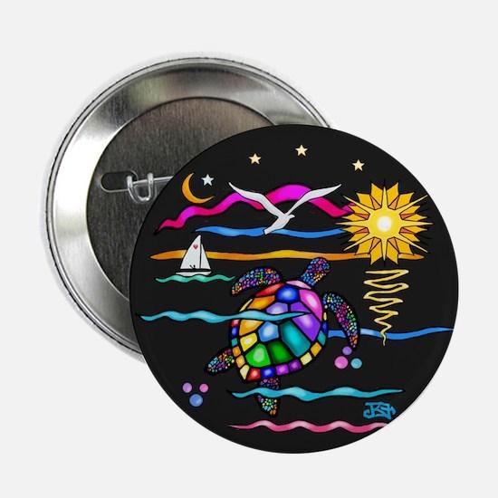 "SeaTurtle (night) 2.25"" Button"