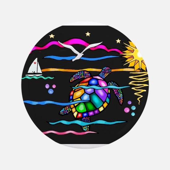 "SeaTurtle (night) 3.5"" Button"