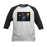 SeaTurtle (night) Kids Baseball Jersey