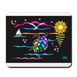 SeaTurtle (night) Mousepad