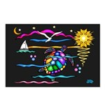 SeaTurtle (night) Postcards (Package of 8)