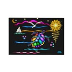 SeaTurtle (night) Rectangle Magnet (100 pack)