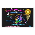 SeaTurtle (night) Sticker (Rectangle 50 pk)