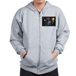 SeaTurtle (night) Zip Hoodie