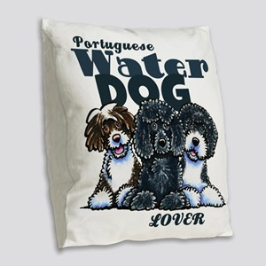 PWD Lover Burlap Throw Pillow