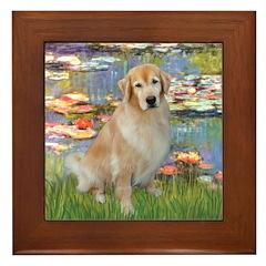Lilies & Golden Framed Tile
