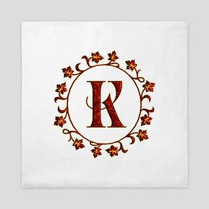Letter K Monogram Queen Duvet