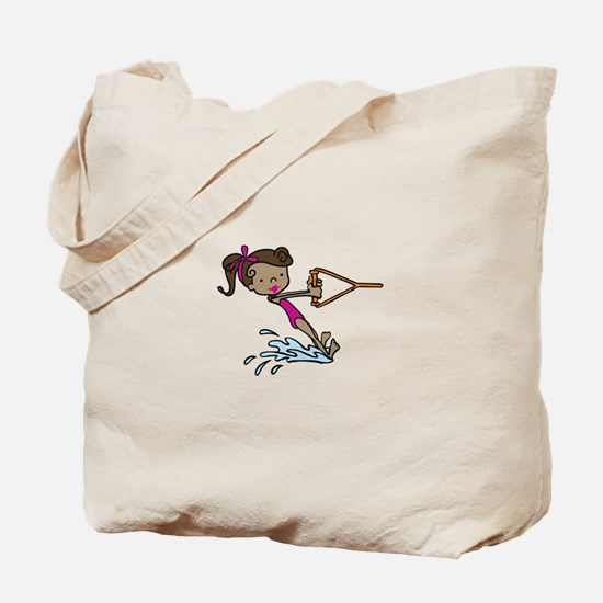 Barefoot Ski Girl Tote Bag