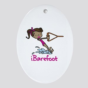 iBarefoot Girl Ornament (Oval)