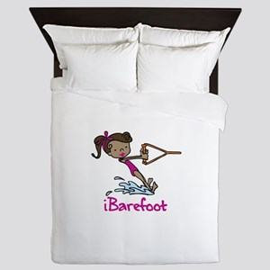 iBarefoot Girl Queen Duvet