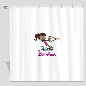 iBarefoot Girl Shower Curtain