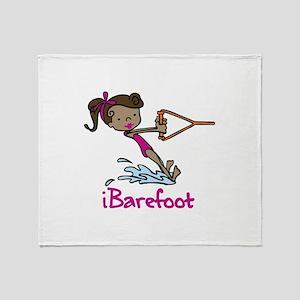 iBarefoot Girl Throw Blanket