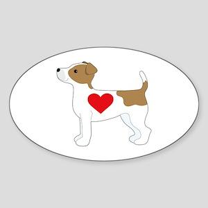 Jack Russell Terrier Sticker (Oval)