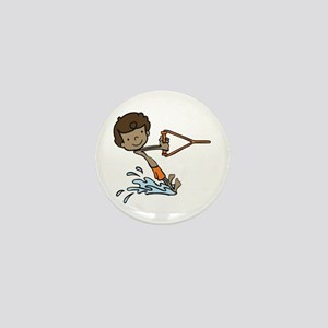 Barefoot Ski Boy Mini Button