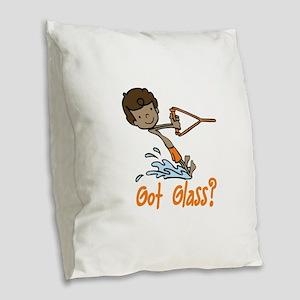 Got Glass Burlap Throw Pillow
