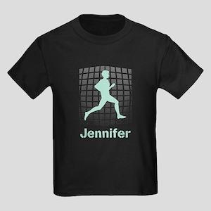 Mint Jogging Personalized Kids Dark T-Shirt