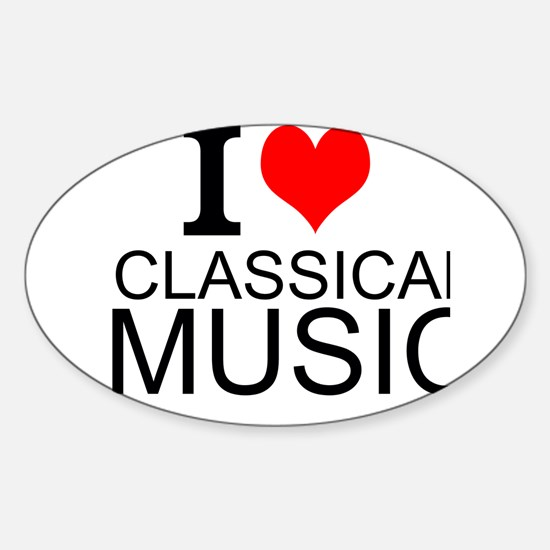 I Love Classical Music Decal