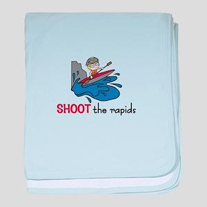 Shoot the Rapids baby blanket