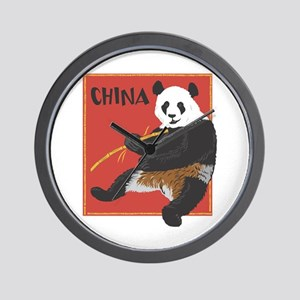 China Panda Wall Clock