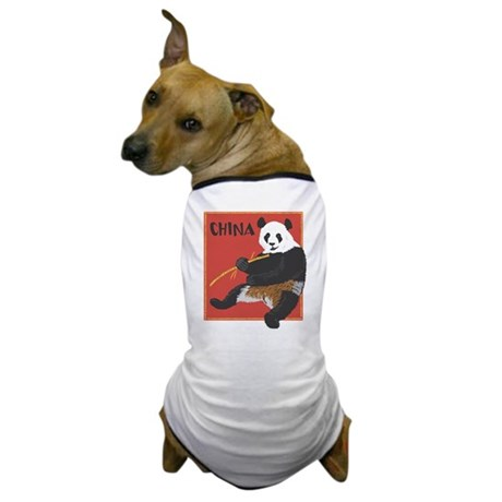 China Panda Dog T-Shirt