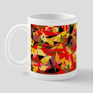 Abstract Retro Autumn Mug