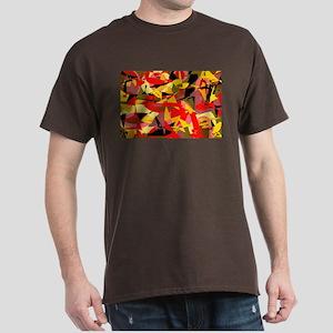 Abstract Retro Autumn Dark T-Shirt