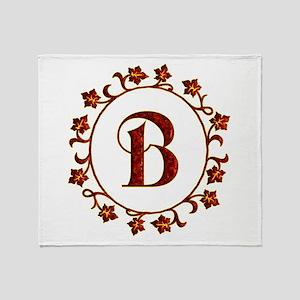 Letter B Monogram Throw Blanket