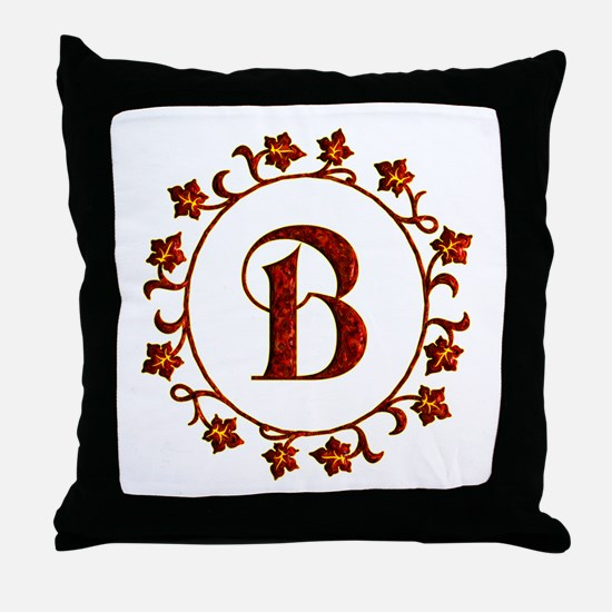 Letter B Monogram Throw Pillow
